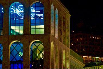 Opera di Luce al neon di Lucio Fontana